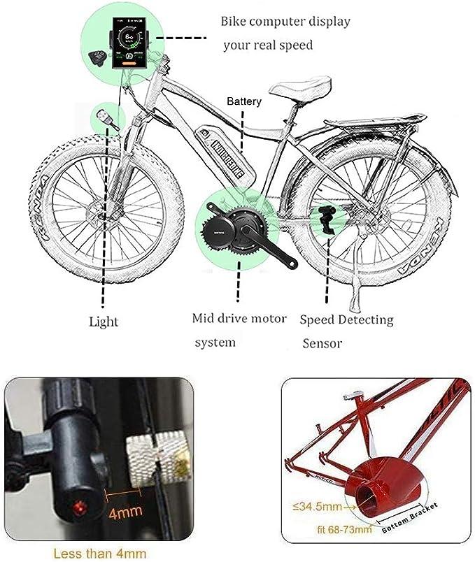 Bafang Bicicleta eléctrica BBS02B 48V 750W Kit de conversión de ...