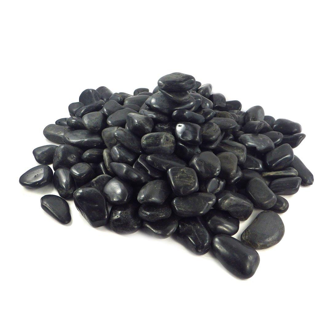 5kg-Gro/ß-Black-4-8cm Sepkina 30 Sparpack Deko Dekosteine Natursteine Tischdeko Tischdekoration Steine Streudeko Ziersteine schwarz