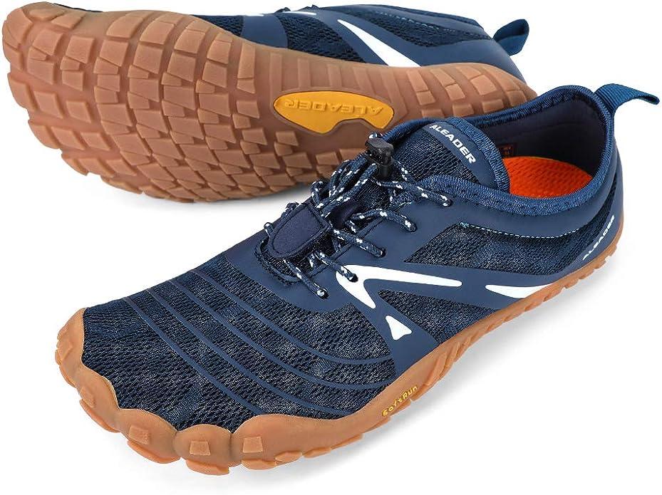 ALEADER Womens Minimalist Trail Running Shoes Barefoot Zero Drop Wide Toe