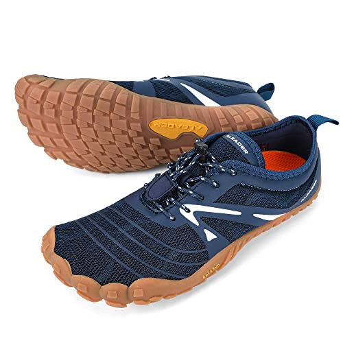 Buy Aleader Minimalist Running Shoes Mens Barefoot Five Fingers Toe Shoes Navy 9 5 M Us Men At Amazon In
