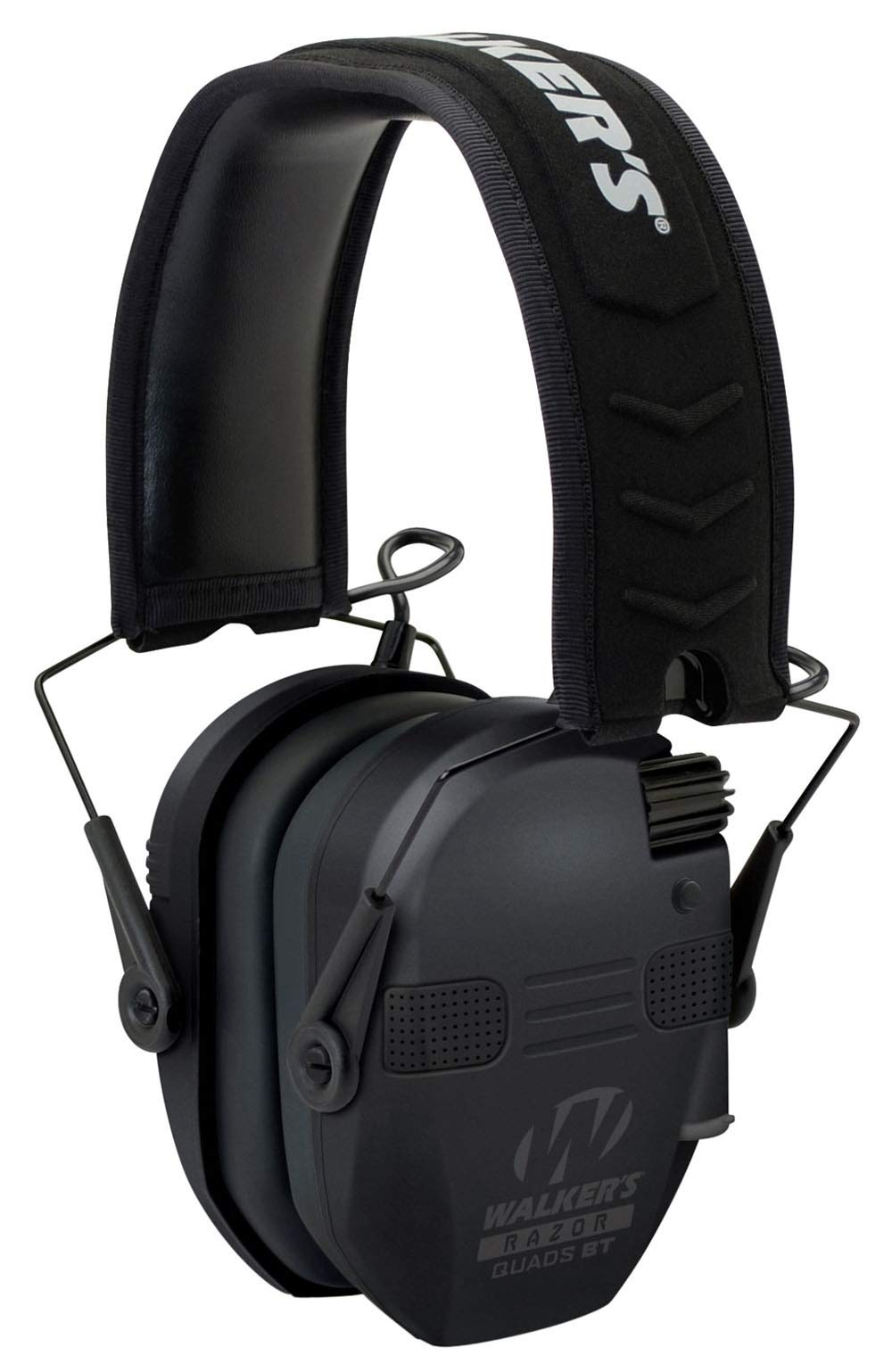 Walkers Razor Slim Quad with Bluetooth Electronic Earmuff 23 dB Black by Walkers