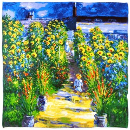 Silkart Garden en 85x85 Silk Square Vetheuil Monet Claude El Cm artista pxrp6OwqI