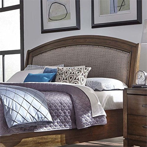 Liberty Furniture Avalon III Queen Upholstered Headboard, Pebble Brown