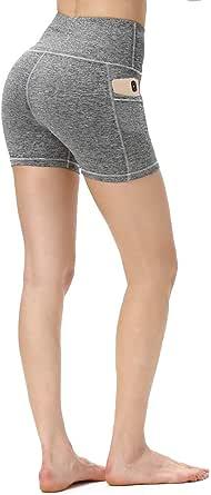 ALONG FIT Yoga Pants with Pockets, High Waisted Yoga Leggings Tummy Control Yoga Shorts Squat Proof Capis pants