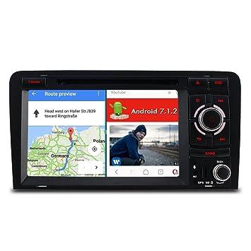 Iauch 7 pulgadas HD de pantalla táctil wincce 6.0 con estéreo de coche reproductor de DVD GPS navegación Bluetooth Radio SAT NAV para Audi A3 S3 RS3: ...