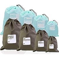 Nakeey Sac Organisateurs, Sac de Voyage Sac de Rangement Imperméable Sacs de Rangement en Corde Sacs de Rangement Pochette Pochette Plate Pochette Extérieure