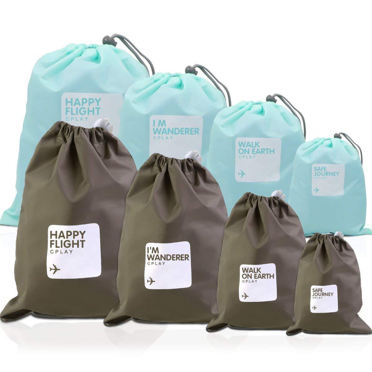 Bag Organisers, Nakeey Flat Bag Pannier Outdoor Travel Waterproof Storage Bag Drawstring Storage Bag Storage Bag 6Pack