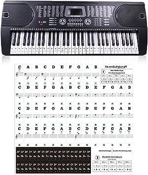 Pegatina para piano 88 tecla 61 teclas 54 teclas Transparente ...