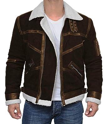 Decrum Brown Suede Leather Jacket Iowa Swedish B2 Bomber Jacket At