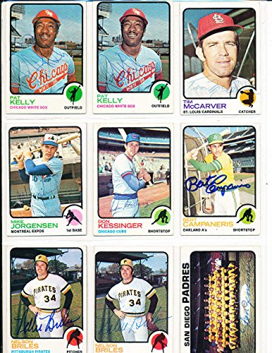 (Nelson Briles Pirates #303 1973 topps Signed Baseball card)