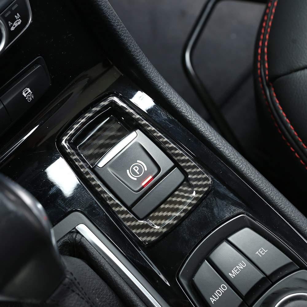 Karbonfaser f/ür 218i Gran Tourer F45/F46/ABS Chrom Elektronische Feststellbremse Button Abdeckung Trim 2015 2017