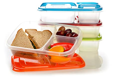 Plastic Lunch Box Hot Food Container Set Lunch Boxes With 1,2,3,4 Compartment Food & Kitchen Storage Lunchboxes