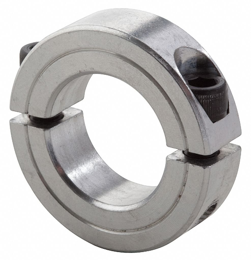 3//4 Bore Size 1-1//2 OD With 1//4-28 x 5//8 Set Screw Climax Metal 2C-075-A Aluminum Two-Piece Clamping Collar