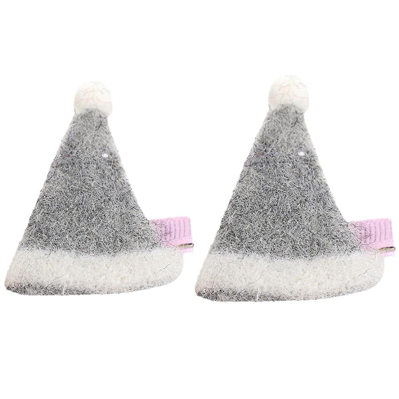 Bonnet Bebe, Tpulling 2pcs filles toddler infant enfants chapeau de noël épingle la pince à cheveux accessoires