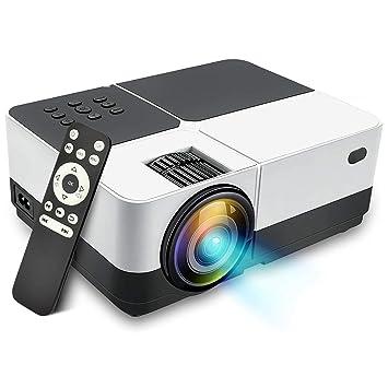 Semoic - Proyector LCD, 2500 lúmenes, proyector de vídeo portátil ...