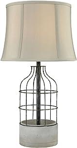Elk Lighting D3289 Rochefort Outdoor Table Lamp, Oil Rubbed Bronze, Polished Concrete