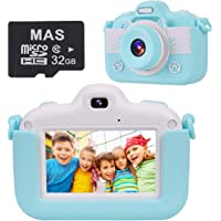 VICOODA Kids Camera, 3 Inch HD Touch Screen Camera Toys for 3-12 Year Old Children, Children's Digital Camera Video Game with Protective Bag 32GB SD Card, Gift for Toddlers