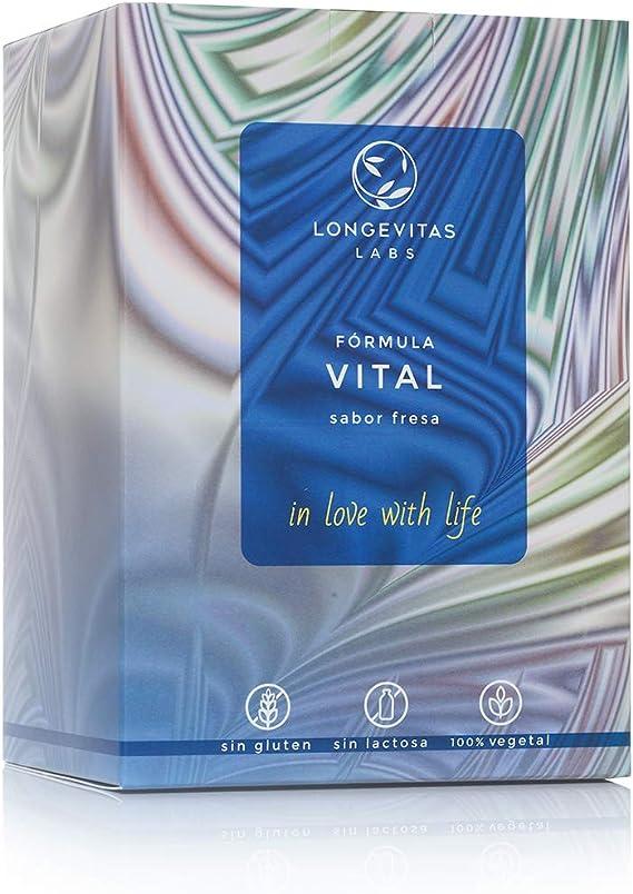 Fórmula Vital es el complemento nutricional de Longevitas Labs, a base de proteínas vegetales, prebióticos y extracto de maca, te ayuda a perder peso ...