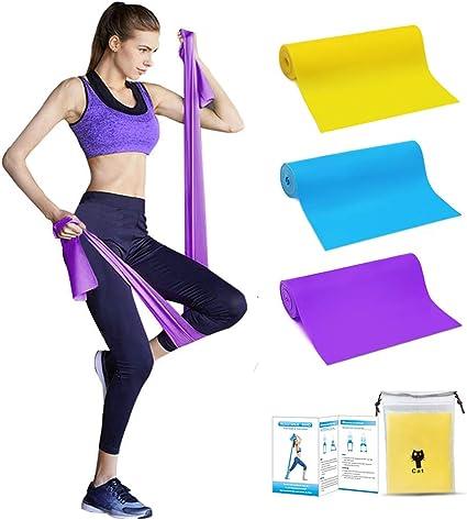 Bande /Élastique Fitness Bande de R/ésistance /Élastique /Équipement dExercices pour Musculation Pilates Yoga avec Sac de Rangement
