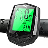 Echoice Speedometer Wireless Bike Computer Waterproof with Large Screen and 8 Functions, Cycling Computer, Speedo for Bike mph, Mountain Bike Computer