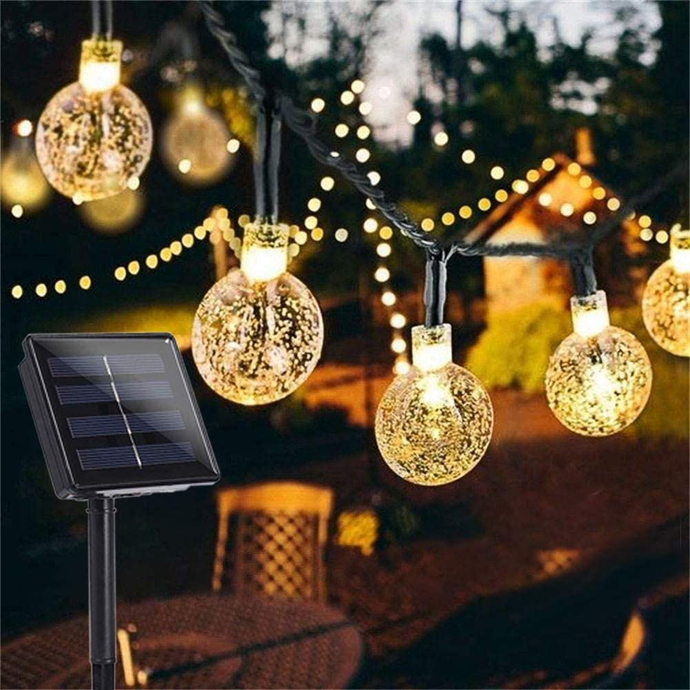 Outdoor String Lights Patio Party Yard Garden Wedding 50 LED Solar Powered Bulbs