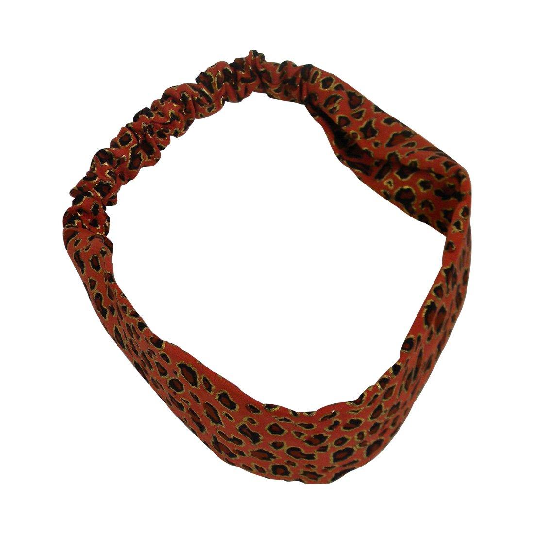 Amazon.com   Mustard Headwrap with Gold Leopard Spots Soft Headband for  women with Elastic   Beauty 9e530e6cd4e