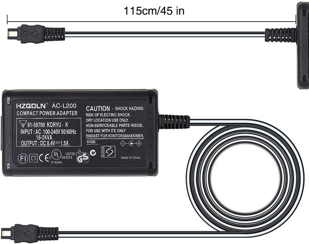 HZQDLN AC Power Adapter Charger and US Cable for Sony Handycam DCR-IP210 Digital Camcorder