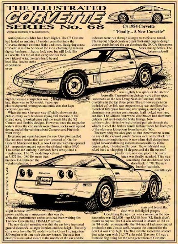 Amazon com: 1984 C4 Corvette Art Print: Posters & Prints