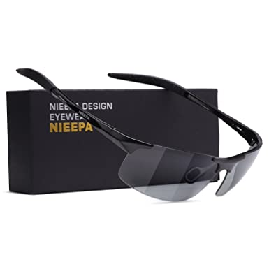 7f046fd5da NIEEPA Photochromatic Mens Al-Mg Sports Polarized Sunglasses For Driving  Ride Cycling Metal Unbreakable Frame