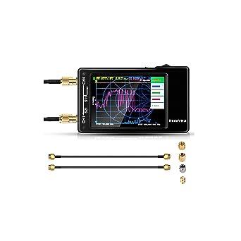 [Actualizado] NanoVNA Analizador de red vectorial, 2.8-inch10KHz -1,5GHz HF VHF UHF Analizador de antena de medición de parámetros,tasa de voltaje de ...