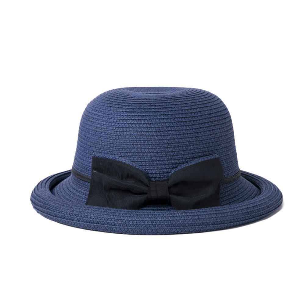 FEIFEI Visière chapeau de paille Pliable Portable Beige rouge bleu  Protection solaire Protection UV ( Couleur 3fd02db4b97