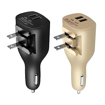 Amazon.com: ndlbs Dual Puertos USB 2-en-1 coche y hogar ...