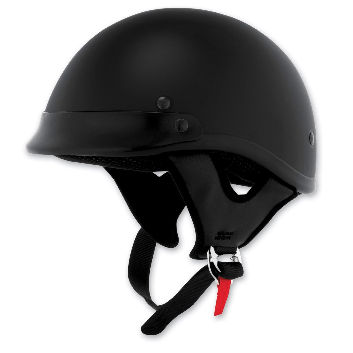 Skid Lid Traditional Helmet (Flat Black, Medium)