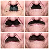 Mustaches Self Adhesive, Novelty, Fake, Value Pack (6pcs.)