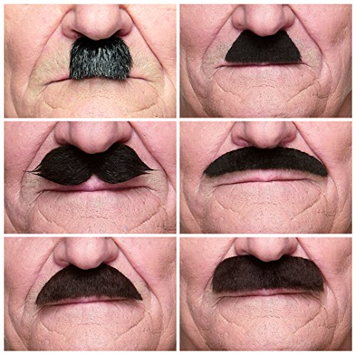 Mustaches Self Adhesive, Novelty, Fake, Value Pack (6pcs.) by Mustaches (Image #7)