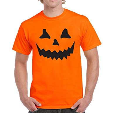 1cdf8413 Halloween T Shirt Pumpkin Shirt Top Tee Horror Costume Scary Mens Outfit  White: Amazon.co.uk: Clothing