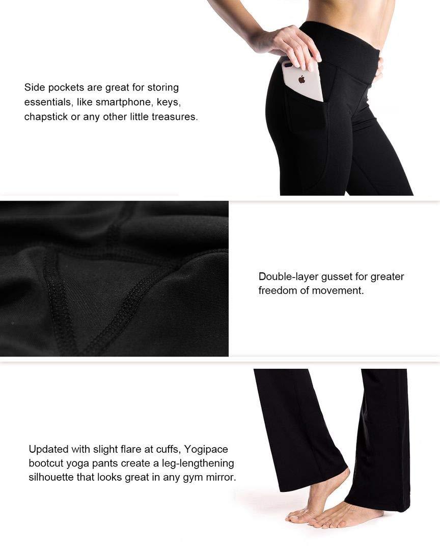 27 29 31 35 37 Inseam Petite Regular Tall Side Pockets Womens Bootcut Yoga Pants Long Workout Pants Side Pockets Yogipace Clothing Women