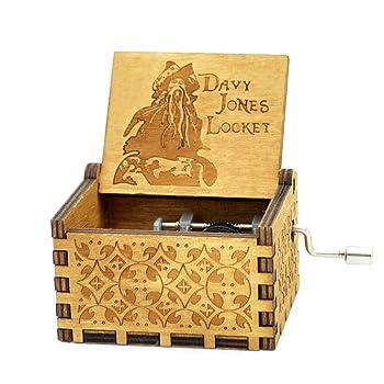 Sooharic Davy Jones Music Box- 18 Note Hand Crank Mechanism Wooden Music Box Crafts