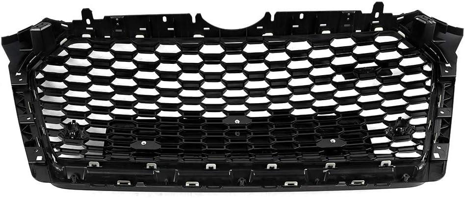 noir brillant Calandre avant de voiture couverture de filet de pare-chocs avant style A4 S4 B9 2017-2019