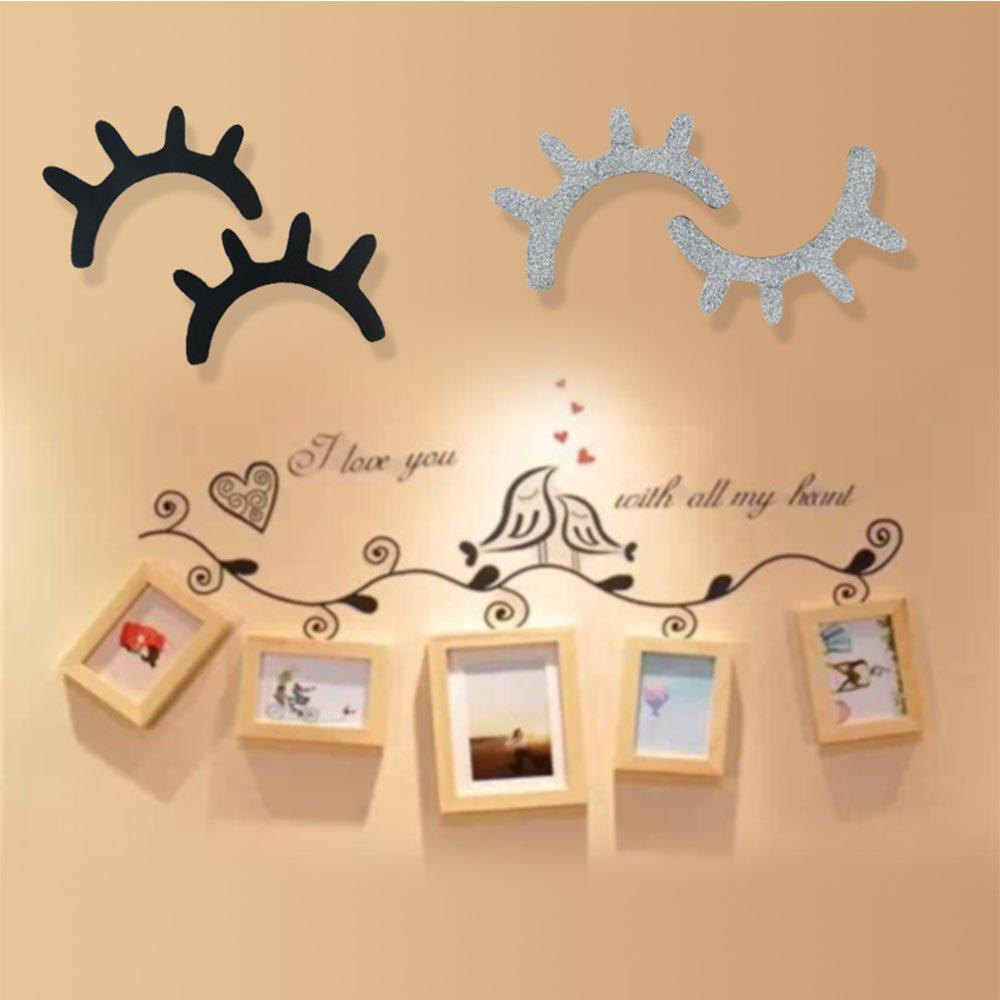 Amazon.com: SHEbaking Wooden Eyelash Sleepy Eyes Wall Decoration For ...
