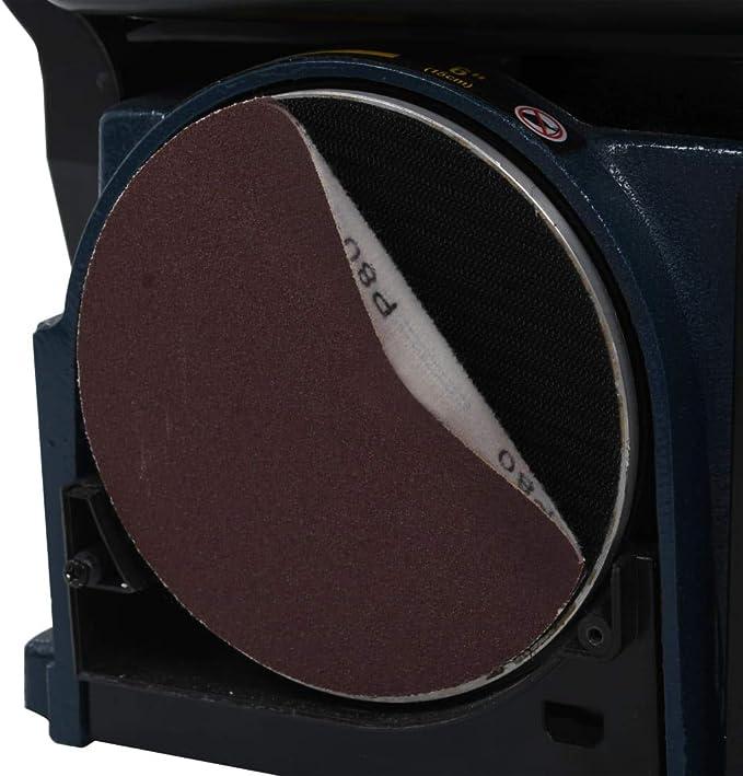 Festnight Lijadoras de Banda Lijadora de disco y Banda Lijadora de Plato Lijadoras Electricas Con Interruptor de Seguridad y Medidor 550 W 200 mm