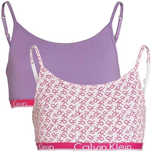 Camicia ragazza Klein multicolore Calvin per multicolore gesso Viola logo bianco Stampa qxfnFF5