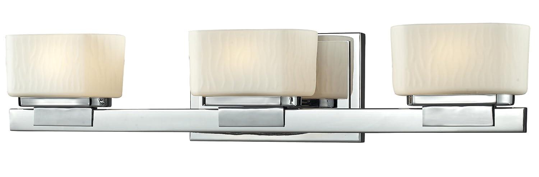 Z-Lite 3020-3V 3-Light Vanity Light with Steel Frame Material, Matte Opal