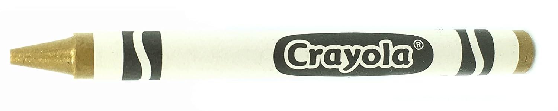 50 Gold Crayons Bulk - Single Color Crayon Refill - Regular Size 5/16 x 3-5/8 MinifigFans