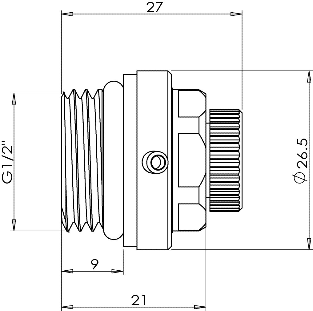 Mehrkant-Ventil Automatisches Entl/üftungsventil f/ür Heizung Automatik-Entl/üftungsventil f/ür Heizk/örper /½-Ventil 5er-Set