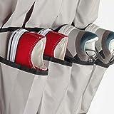 Over The Door Shoe Organizer - 24 Pockets and Door Shoe Rack for Door Shoe Storage 4 Customized Strong Metal Hooks Hanging Shoe Organizer