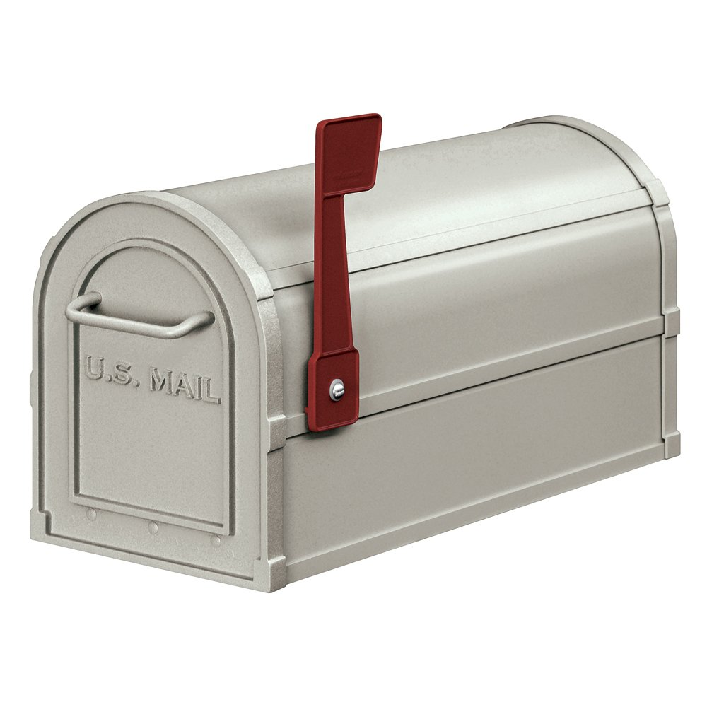 Salsbury Industries 4850A-NIC Antique Rural Mailbox, Nickel