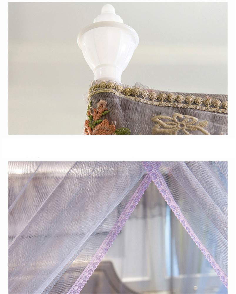 Mosquito net Home Floor Insect Proof Gauze 1.8m Bed Double 1.5m Rice Single Child Student Dormitory Summer, Gray, 2.0M by Lostryy-Mosquito Nets Baby (Image #7)
