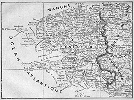 Amazon finistre finistere 1878 old map antique map finistere 1878 old map antique map vintage map finistre gumiabroncs Choice Image