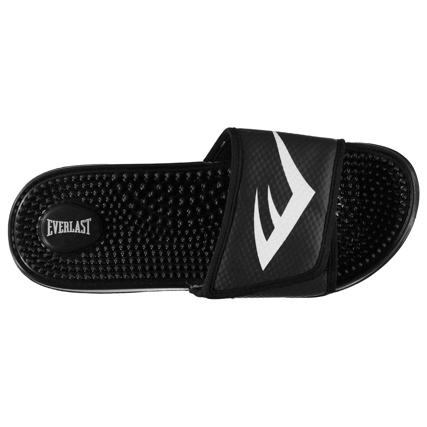 4865209447890d Everlast Mens Massage Sliders Black White UK 10 (44)  Amazon.co.uk  Shoes    Bags